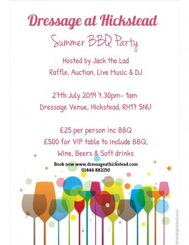 Summer BBQ Party- Click Here to Book